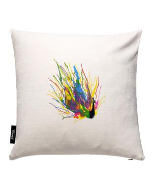 Colorful Peacock Cushion Cover