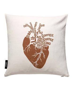 Coffee Lover Heart Kuddöverdrag