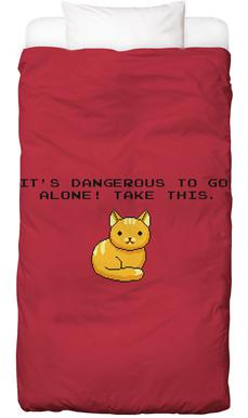 Its Dangerous To Go Alone Take This Cat Bettwäsche