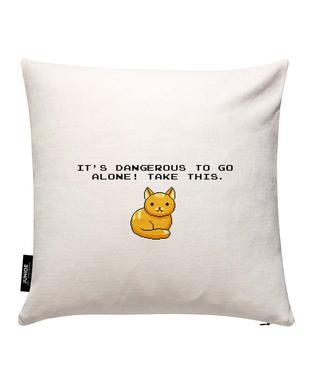 Its Dangerous To Go Alone Take This Cat Cushion Cover