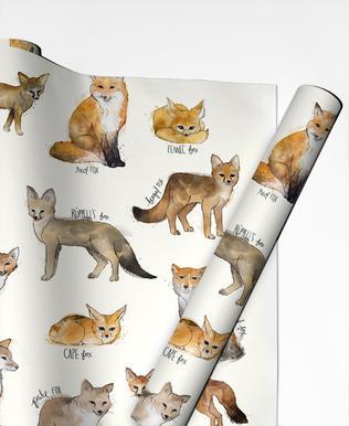Foxes papier cadeau