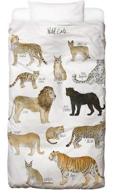 Wild Cats -Kinderbettwäsche
