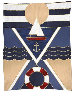 Sailboat -Fleecedecke