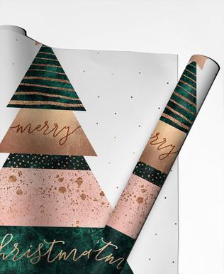 Merry Christmas Tree papier cadeau