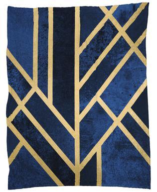 Art Deco Midnight Fleece Blanket
