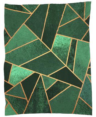 Emerald and Copper Fleece Blanket