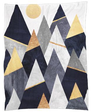 Fancy Mountains Fleece Blanket