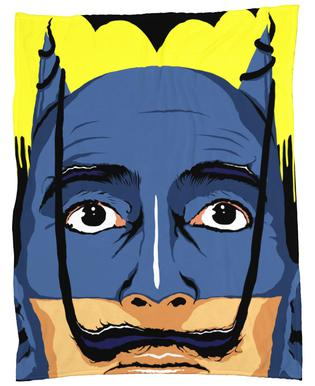 Dali Batman Fleece Blanket