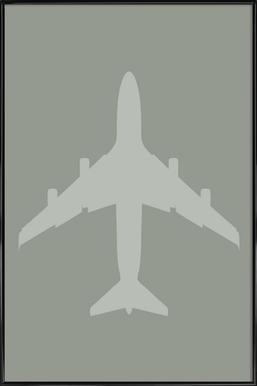 The Jet Poster -Bild mit Kunststoffrahmen
