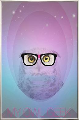 My Owl Geek -Poster im Alurahmen
