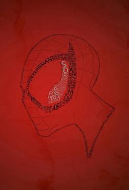 Spider Quotes Aluminium Print