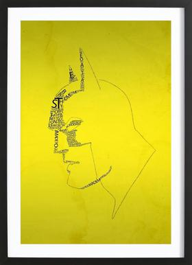 Bat Quotes -Bild mit Holzrahmen