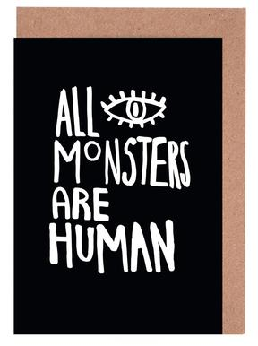 All Monsters Are Human Greeting Card Set