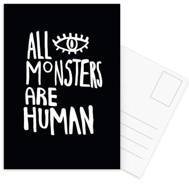 All Monsters Are Human Postcard Set