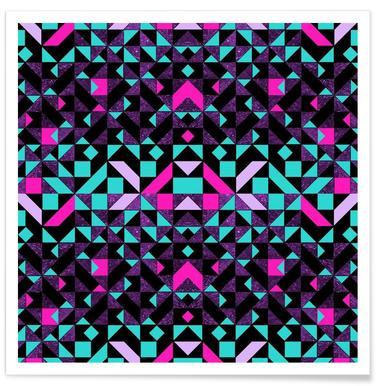 Geometric Galaxy -Poster