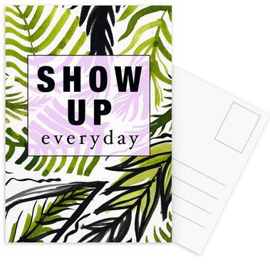 Show Up Everyday Postcard Set