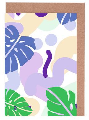 Monstera Pastel Greeting Card Set