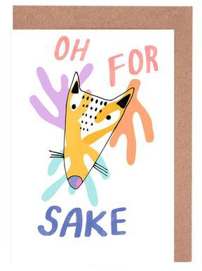 Oh for Fox Sake Greeting Card Set