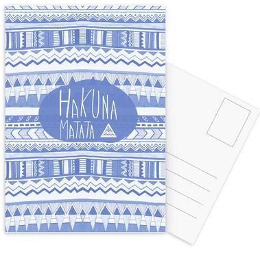 Hakuna Matata Navy Blue Postcard Set