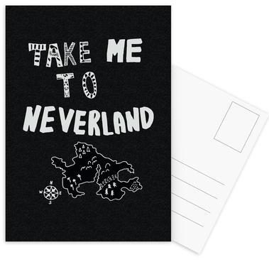 Take Me To Neverland 2 Postcard Set