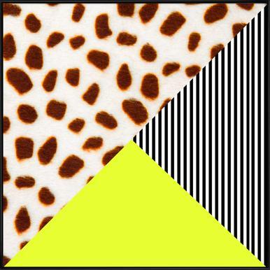 Cheetah Stripe  Neon ingelijste poster