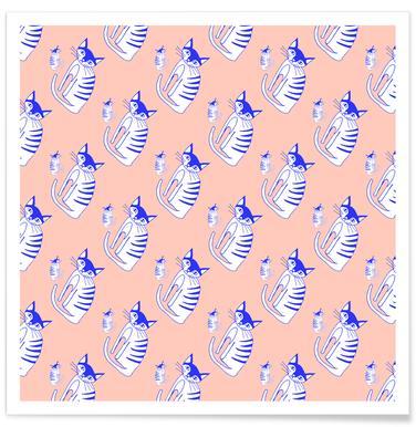 Cat Peach Pattern