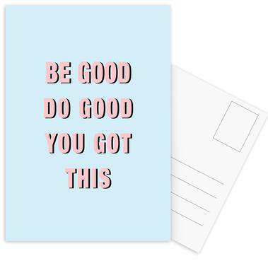 Be Good Do Good Postcard Set