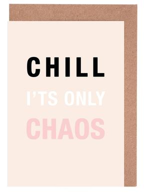 Chill It's Only Chaos Greeting Card Set