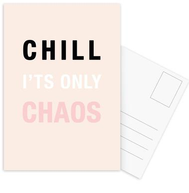 Chill It's Only Chaos Postcard Set