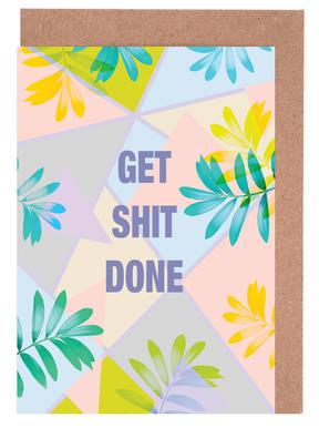 Get Shit Done Tropical Greeting Card Set