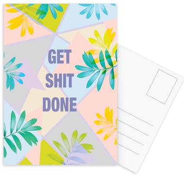 Get Shit Done Tropical Postcard Set