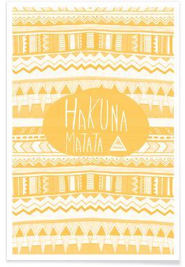Hakuna Matata Yellow Poster