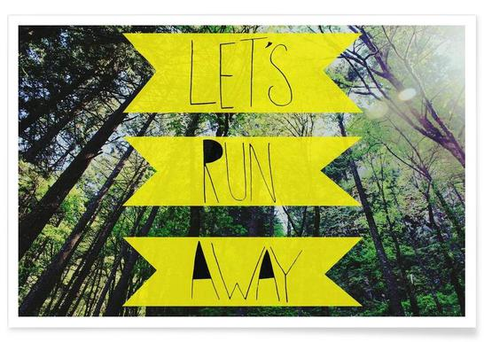 Let's Run Away - to the forest -Poster