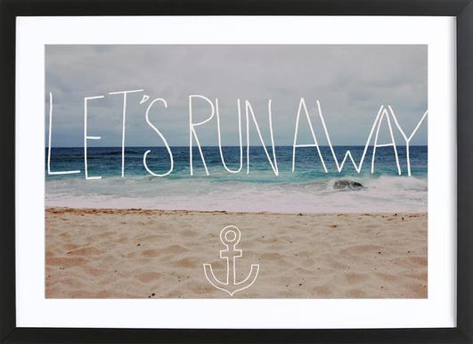 Let's Run Away - to the sea Framed Print