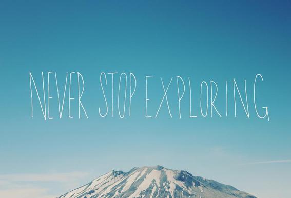 Never Stop Exploring alu dibond
