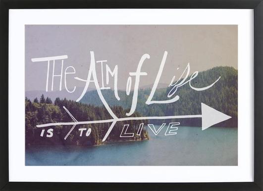 The Aim of Life Framed Print