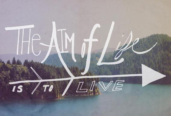 The Aim of Life tableau en verre
