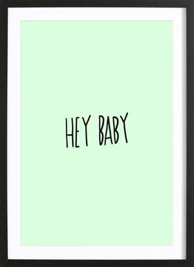 Hey Baby Framed Print