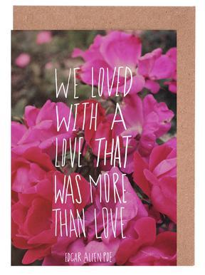 Poe Love Greeting Card Set