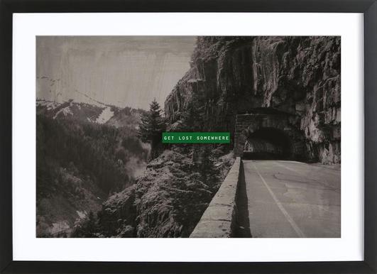 Get Lost Somewhere Framed Print