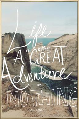 Great Adventure Poster in Aluminium Frame