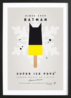 My Superhero Ice Pop - Batman -Bild mit Holzrahmen