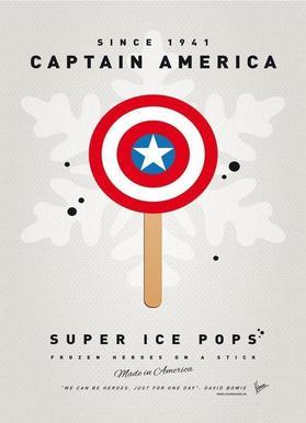 My Superhero Ice Pop - Captain America