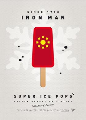 My Superhero Ice Pop - Iron Man Canvas Print