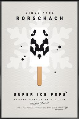 My Superhero Ice Pop - Rorschach -Bild mit Kunststoffrahmen