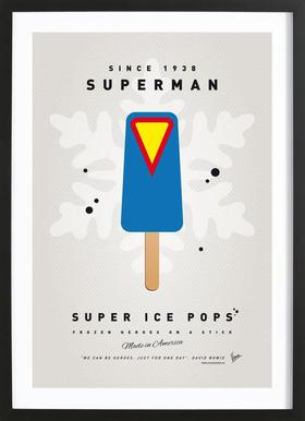 My Superhero Ice Pop - Superman Framed Print