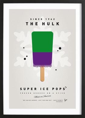My Superhero Ice Pop - The Hulk -Bild mit Holzrahmen