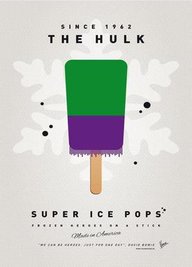My Superhero Ice Pop - The Hulk -Leinwandbild