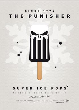 My Superhero Ice Pop - The Punisher Canvas Print