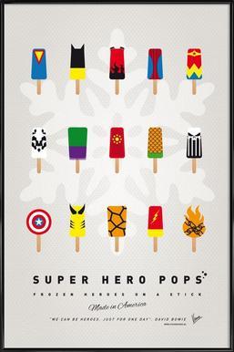 My Superhero Ice Pop - Universe ingelijste poster
